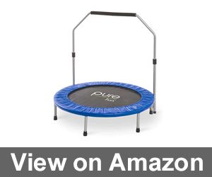 Pure Fun 40-inch Exercise Trampoline with Handrail Review